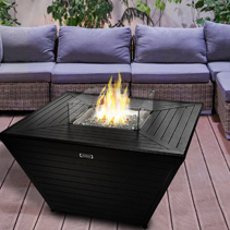 Squares tapared fire pits